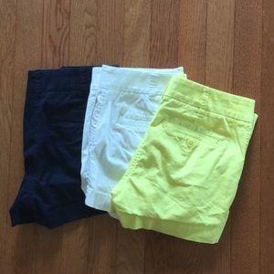 "Bundle of 3 J Crew Chino Shorts 3"""